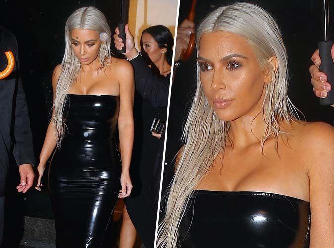 """Résultat de recherche d'images pour """"kim kardashian et ses cheveux teintés à la fashion week new york"""""""