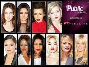 Public Glam Awards 2013 : Quel est le maquillage le plus glamour ?