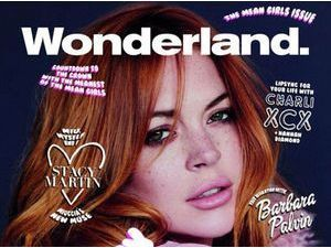 """Lindsay Lohan : elle s'offre la Une du magazine """"Wonderland"""" !"""