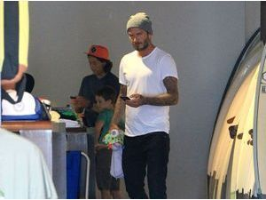 Photos : David Beckham : incorrigible papa poule !