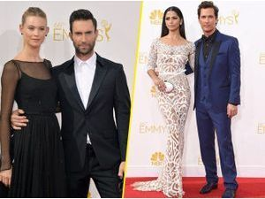 Photos : Emmy Awards 2014 : Adam Levine et Behati Prinsloo, Matthew McConaughey et Camilla Alves… : duels de couples sur le tapis rouge !
