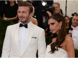 Photos : MET Ball 2014 : Victoria et David Beckham : chics à souhait en total look blanc !