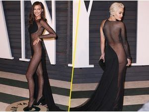 Photos : Oscars 2015 : Irina Shayk vs Rita Ora : sans sous vêtements à l'after, elles ont osé !