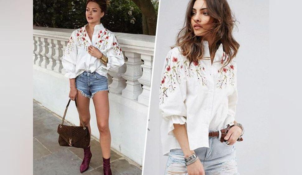 Shopping Copie Conforme : La blouse fleurie de Caroline Receveur